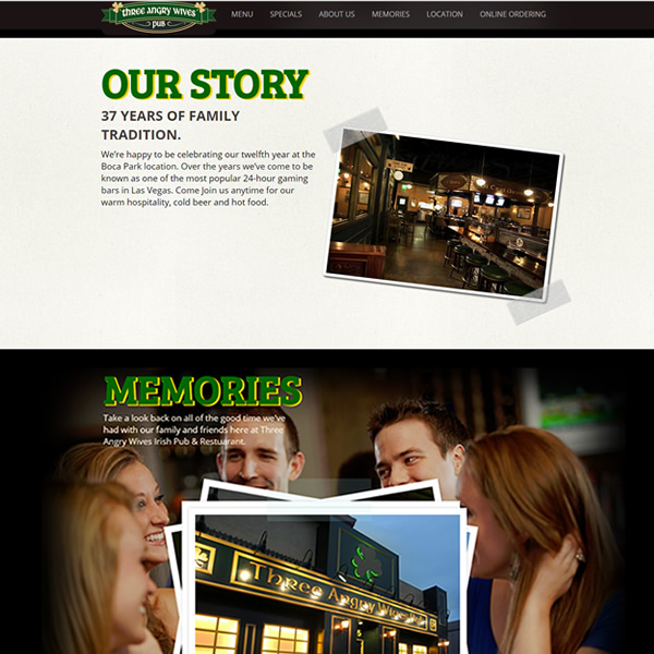 Three Angry Wives Website Design